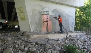Graffiti Removal from Concrete