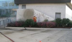 Graffiti removal from Concrete