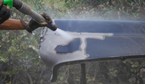 Removal of body filler and paint