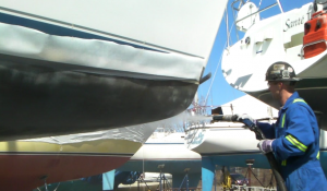 Coating Removal from a boat