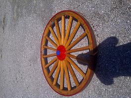 Wagon wheel before
