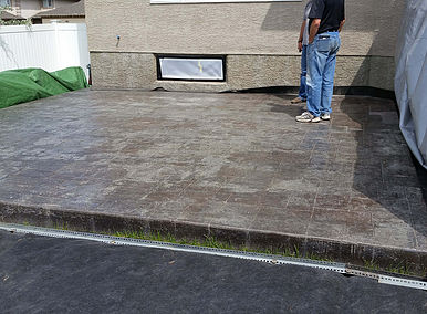 Stamped concrete before