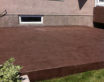 Stamped concrete after