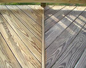 Deck stripped